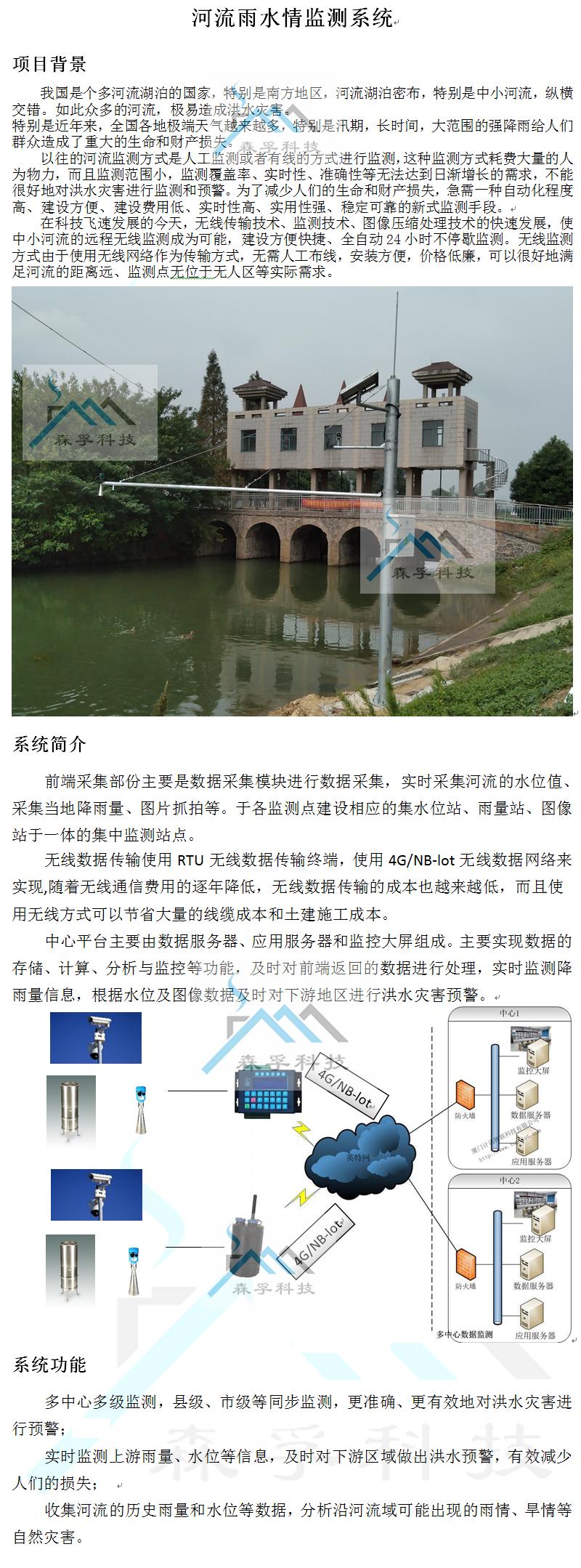 河流雨水情监测系统